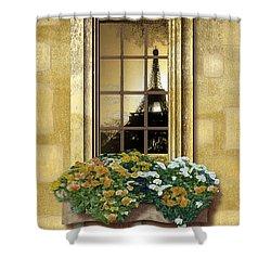 Eiffel Reflection Shower Curtain
