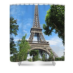 Shower Curtain featuring the photograph Eiffel Tower - 1 by Pema Hou