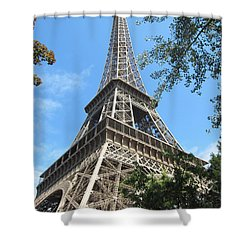 Shower Curtain featuring the photograph Eiffel Tower - 2 by Pema Hou