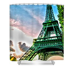Eiffel Tower 8 Shower Curtain by Micah May