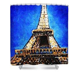 Eiffel Tower Shower Curtain by Anastasiya Malakhova