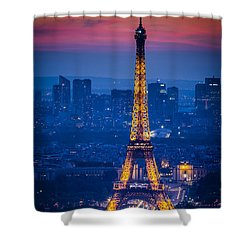 Eiffel Tower At Twilight Shower Curtain