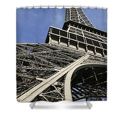 Shower Curtain featuring the photograph Eiffel Tower by Belinda Greb
