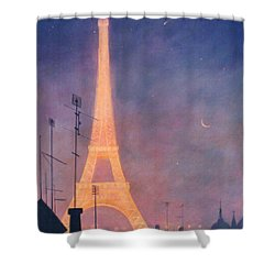 Eiffel Tower Shower Curtain by Blue Sky