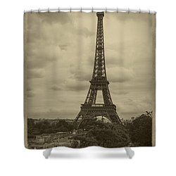 Eiffel Tower Shower Curtain by Debra and Dave Vanderlaan