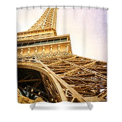 Eiffel Tower Shower Curtain by Edward Fielding