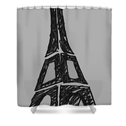 Eiffel Tower Graphic Shower Curtain by Robyn Saunders