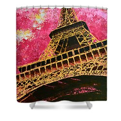 Eiffel Tower Iconic Structure Shower Curtain