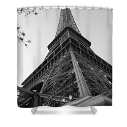 Eiffel Tower In Black And White Shower Curtain