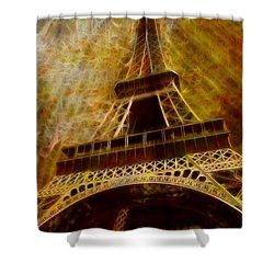 Eiffel Tower Shower Curtain by Jack Zulli