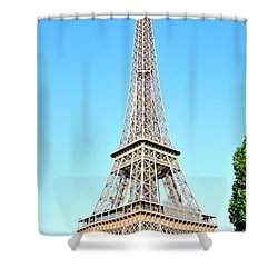 Shower Curtain featuring the photograph Eiffel Tower by Joe  Ng