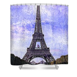 Shower Curtain featuring the photograph Eiffel Tower Paris by Kathy Churchman