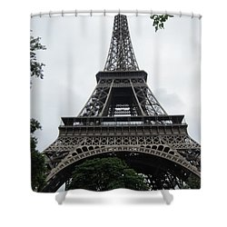 Shower Curtain featuring the photograph Eiffel Tower by Pema Hou