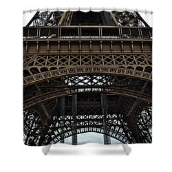 Shower Curtain featuring the photograph Eiffel Tower - The Forgotten Names by Allen Sheffield