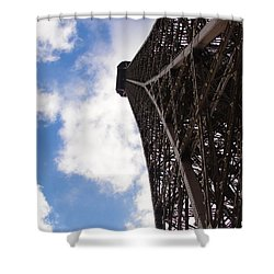 Shower Curtain featuring the photograph Eiffel Tower by Tiffany Erdman