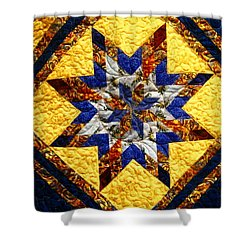 Eight Pointed Star Shower Curtain