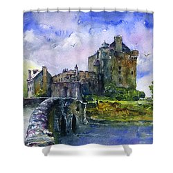 Eilean Donan Castle Scotland Shower Curtain by John D Benson