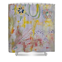 Shower Curtain featuring the painting Eileens Wedding by PainterArtist FIN