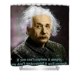 Einstein Explanation Shower Curtain