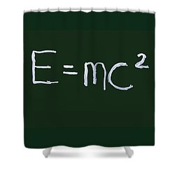 Einstein Formula Shower Curtain