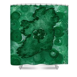 Eire Heart Of Ireland Shower Curtain