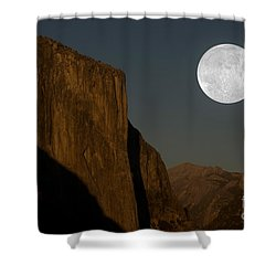 El Capitan And Half Dome Shower Curtain by Mark Newman