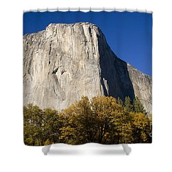 Shower Curtain featuring the photograph El Capitan In Yosemite National Park by David Millenheft