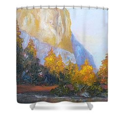 El Capitan Light Shower Curtain by Carolyn Jarvis