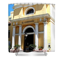 Shower Curtain featuring the photograph El Convento Hotel by The Art of Alice Terrill
