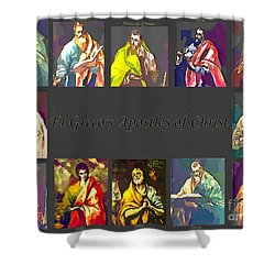 El Greco's Apostles Of Christ Shower Curtain by Barbara Griffin