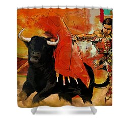 El Matador Shower Curtain by Corporate Art Task Force