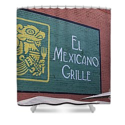 El Mexicano Grille Shower Curtain