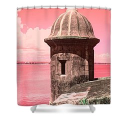 El Morro In The Pink Shower Curtain