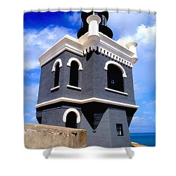 El Morro Lighthouse Shower Curtain by Carey Chen