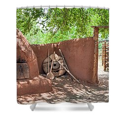 Shower Curtain featuring the photograph El Rancho De Las Golondrinas by Roselynne Broussard