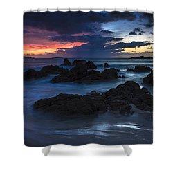 Shower Curtain featuring the photograph El Villar Beach Galicia Spain by Pablo Avanzini