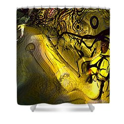 Shower Curtain featuring the digital art Elaboration Of Day Into Dream by Richard Thomas