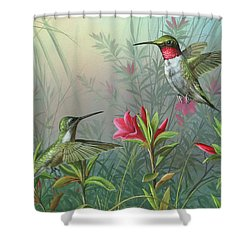 Shower Curtain featuring the painting Elegance  by Mike Brown