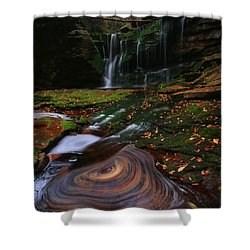 Shower Curtain featuring the photograph Elakala Falls by Jaki Miller