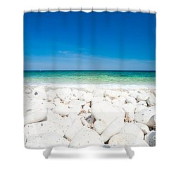 Elba - Capo Bianco  Shower Curtain by Luciano Mortula