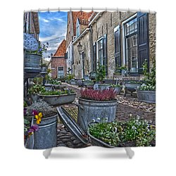 Elburg Alley Shower Curtain