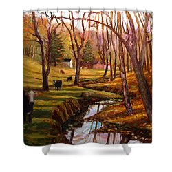 Elby's Cows Shower Curtain