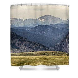 Eldorado Canyon And Continental Divide Above Shower Curtain by James BO  Insogna