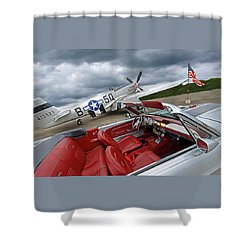 Eleanor Cockpit With P51 Mustang Shower Curtain