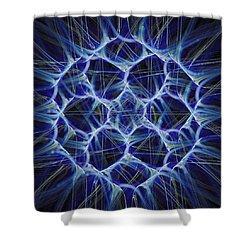 Electric Blue Shower Curtain by Anastasiya Malakhova