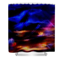 Shower Curtain featuring the photograph Electric Chaos by Mike Breau