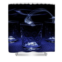 Shower Curtain featuring the photograph Electric Cocktails - Light Painting by Steven Milner