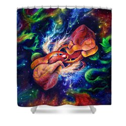 Electric Desire Shower Curtain by Kd Neeley