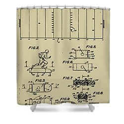 Electric Football Patent Shower Curtain by Bill Cannon
