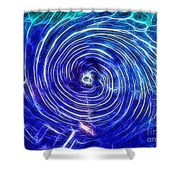 Electric Glass Light 4 Shower Curtain
